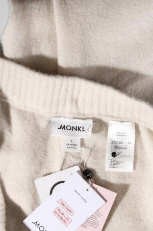 Дамски панталон Monki, Размер XL, Цвят Екрю, 53% полиестер, 37% акрил, 5% вълна, 5% еластан, Цена 23,76лв.