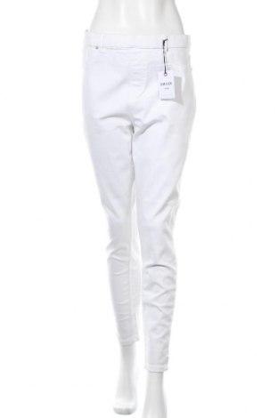 Дамски панталон New Look, Размер XL, Цвят Бял, 89% памук, 8% полиестер, 3% еластан, Цена 39,00лв.