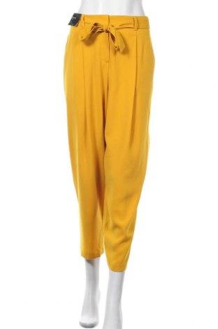 Дамски панталон New Look, Размер XL, Цвят Жълт, Полиестер, Цена 39,00лв.
