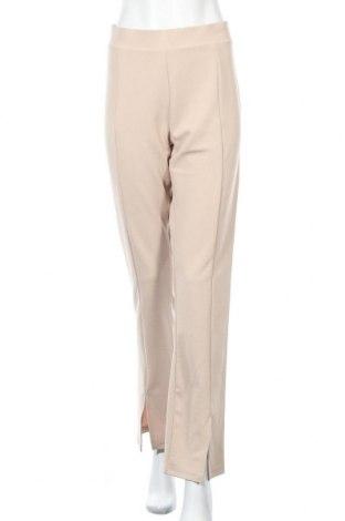 Γυναικείο παντελόνι Nly Trend, Μέγεθος L, Χρώμα  Μπέζ, 95% πολυεστέρας, 5% ελαστάνη, Τιμή 16,70€