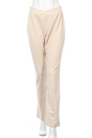 Γυναικείο παντελόνι Nly Trend, Μέγεθος M, Χρώμα  Μπέζ, 95% πολυεστέρας, 5% ελαστάνη, Τιμή 15,16€