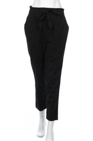 Γυναικείο παντελόνι Noisy May, Μέγεθος M, Χρώμα Μαύρο, 90% βαμβάκι, 10% λινό, Τιμή 22,20€