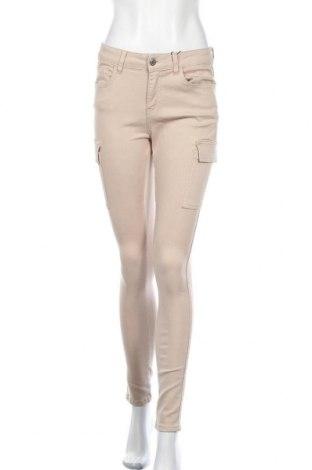 Γυναικείο παντελόνι Noisy May, Μέγεθος M, Χρώμα  Μπέζ, 51% βαμβάκι, 27% πολυεστέρας, 13% lyocell, 7% βισκόζη, 2% ελαστάνη, Τιμή 22,81€