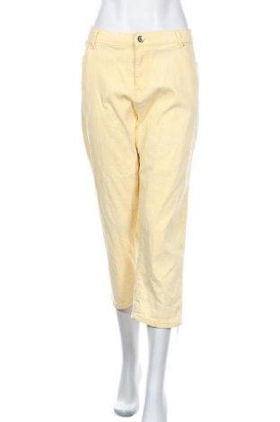 Γυναικείο παντελόνι Noni B, Μέγεθος XXL, Χρώμα Κίτρινο, Βαμβάκι, ελαστάνη, Τιμή 31,82€