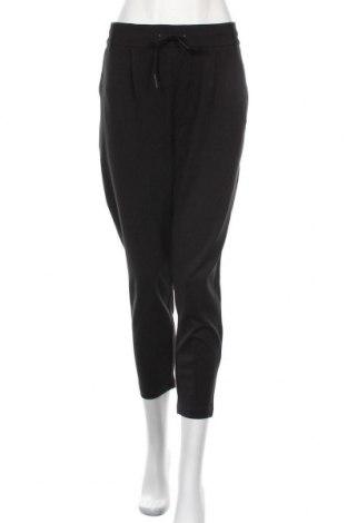 Дамски панталон ONLY, Размер XL, Цвят Черен, 63% вискоза, 32% полиамид, 2% еластан, Цена 27,00лв.