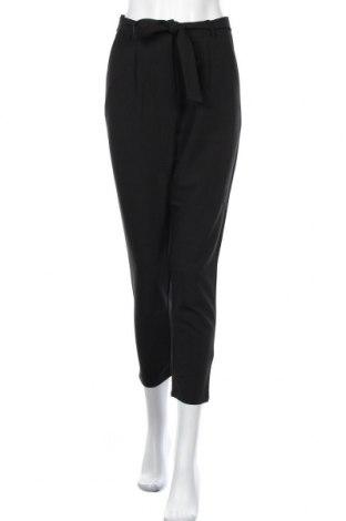 Γυναικείο παντελόνι Pieces, Μέγεθος S, Χρώμα Μαύρο, 79% πολυεστέρας, 16% βισκόζη, 5% ελαστάνη, Τιμή 22,20€