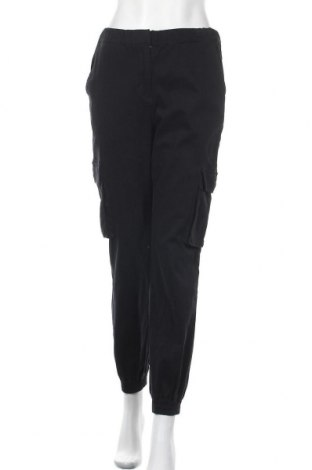 Γυναικείο παντελόνι Pieces, Μέγεθος S, Χρώμα Μαύρο, 98% βαμβάκι, 2% ελαστάνη, Τιμή 12,41€