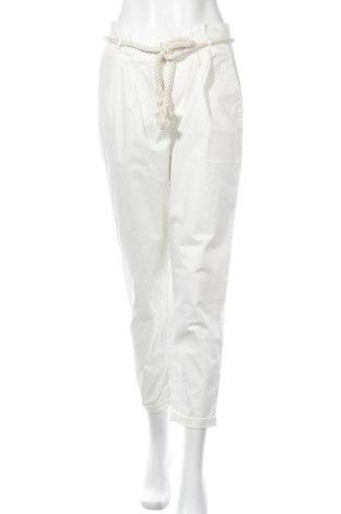 Γυναικείο παντελόνι Springfield, Μέγεθος M, Χρώμα Λευκό, 98% βαμβάκι, 2% ελαστάνη, Τιμή 16,08€