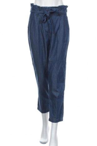 Γυναικείο παντελόνι Tom Tailor, Μέγεθος M, Χρώμα Μπλέ, 68% lyocell, 32% βαμβάκι, Τιμή 32,48€