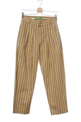 Γυναικείο παντελόνι United Colors Of Benetton, Μέγεθος XS, Χρώμα  Μπέζ, 98% βαμβάκι, 2% ελαστάνη, Τιμή 14,29€