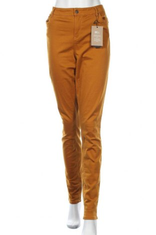 Дамски панталон Vero Moda, Размер XL, Цвят Кафяв, 97% памук, 3% еластан, Цена 36,75лв.