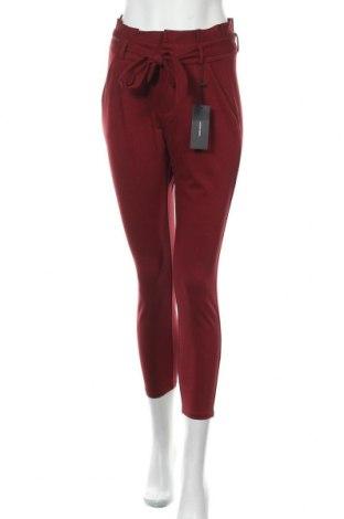 Дамски панталон Vero Moda, Размер XS, Цвят Червен, 65% вискоза, 30% полиамид, 5% еластан, Цена 44,25лв.