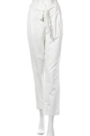 Дамски панталон Vila, Размер L, Цвят Бял, 60% памук, 35% полиамид, 5% еластан, Цена 43,07лв.