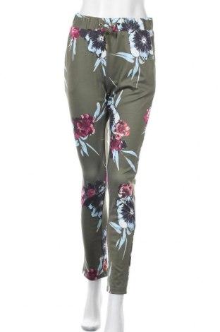 Дамски панталон Vila, Размер S, Цвят Зелен, 96% полиестер, 4% еластан, Цена 44,25лв.