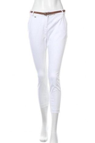 Γυναικείο παντελόνι Wallis, Μέγεθος S, Χρώμα Λευκό, 99% βαμβάκι, 1% ελαστάνη, Τιμή 19,56€