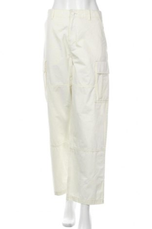 Дамски панталон Weekday, Размер L, Цвят Екрю, Памук, Цена 26,32лв.