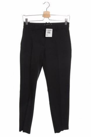 Дамски панталон Zara, Размер XS, Цвят Черен, Цена 27,00лв.