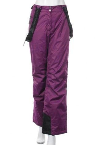 Дамски панталон за зимни спортове Alpine Pro, Размер L, Цвят Лилав, Полиестер, Цена 104,25лв.