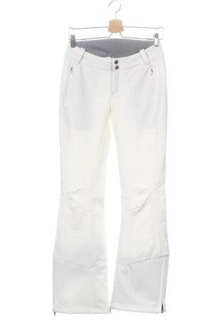 Дамски панталон за зимни спортове Columbia, Размер XS, Цвят Бял, 94% полиестер, 6% еластан, Цена 149,25лв.