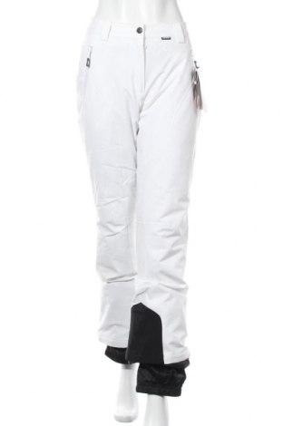 Дамски панталон за зимни спортове Icepeak, Размер M, Цвят Бял, 94% полиестер, 6% еластан, Цена 61,92лв.