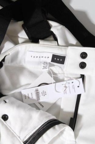 Дамски панталон за зимни спортове Topshop, Размер S, Цвят Бял, 80% полиамид, 20% еластан, Цена 42,25лв.