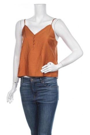 Γυναικείο αμάνικο μπλουζάκι About You, Μέγεθος S, Χρώμα Πορτοκαλί, 88% βισκόζη, 12% πολυαμίδη, Τιμή 11,92€