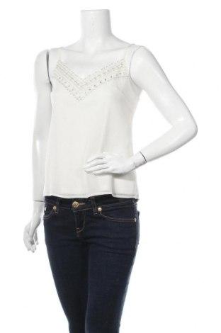 Γυναικείο αμάνικο μπλουζάκι About You, Μέγεθος S, Χρώμα Εκρού, Πολυεστέρας, Τιμή 10,72€