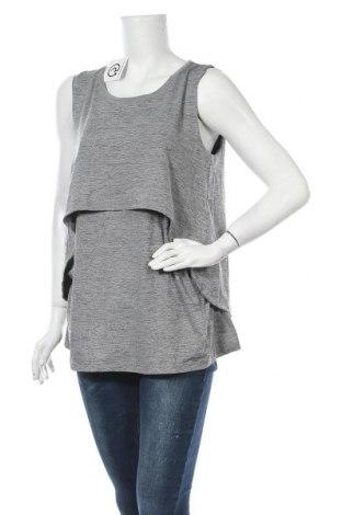 Γυναικείο αμάνικο μπλουζάκι Crivit, Μέγεθος M, Χρώμα Γκρί, 94% πολυεστέρας, 6% ελαστάνη, Τιμή 9,35€