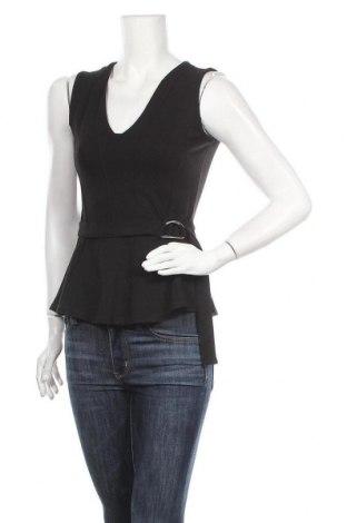 Γυναικείο αμάνικο μπλουζάκι Cubus, Μέγεθος XS, Χρώμα Μαύρο, 72% βισκόζη, 24% πολυεστέρας, 4% ελαστάνη, Τιμή 11,11€