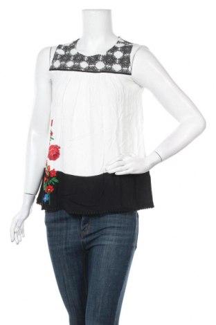 Γυναικείο αμάνικο μπλουζάκι Desigual, Μέγεθος XS, Χρώμα Πολύχρωμο, 69% βισκόζη, 26% πολυεστέρας, 5% βαμβάκι, Τιμή 17,07€