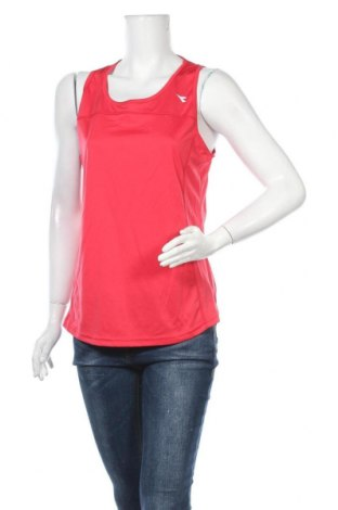 Γυναικείο αμάνικο μπλουζάκι Diadora, Μέγεθος L, Χρώμα Κόκκινο, Πολυεστέρας, Τιμή 9,94€