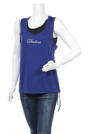 Γυναικείο αμάνικο μπλουζάκι Diadora, Μέγεθος XL, Χρώμα Μπλέ, Πολυεστέρας, ελαστάνη, Τιμή 10,52€
