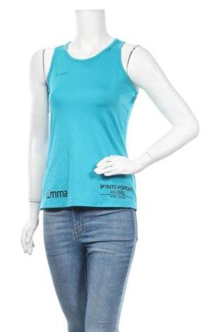Γυναικείο αμάνικο μπλουζάκι Jako, Μέγεθος M, Χρώμα Μπλέ, 95% πολυεστέρας, 5% ελαστάνη, Τιμή 8,83€