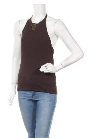 Γυναικείο αμάνικο μπλουζάκι Mexx, Μέγεθος XL, Χρώμα Καφέ, 62% βισκόζη, 38% πολυαμίδη, Τιμή 3,64€