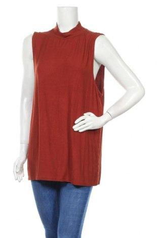 Γυναικείο αμάνικο μπλουζάκι Mix, Μέγεθος XXL, Χρώμα Κόκκινο, Βισκόζη, ελαστάνη, Τιμή 8,28€