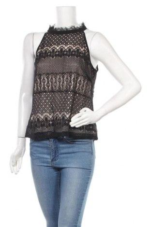 Γυναικείο αμάνικο μπλουζάκι Morgan, Μέγεθος L, Χρώμα Μαύρο, 60% βαμβάκι, 40% πολυεστέρας, Τιμή 8,35€