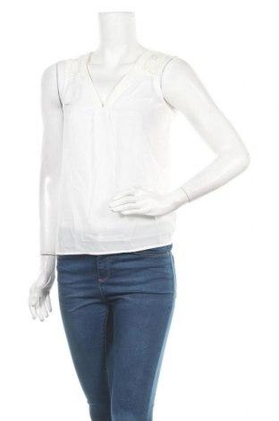 Γυναικείο αμάνικο μπλουζάκι Naf Naf, Μέγεθος S, Χρώμα Λευκό, Μοντάλ, πολυεστέρας, Τιμή 13,15€