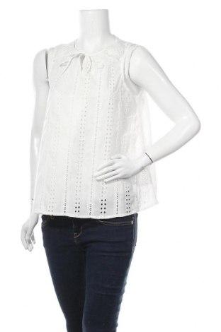 Γυναικείο αμάνικο μπλουζάκι Object, Μέγεθος M, Χρώμα Εκρού, Βαμβάκι, Τιμή 14,74€