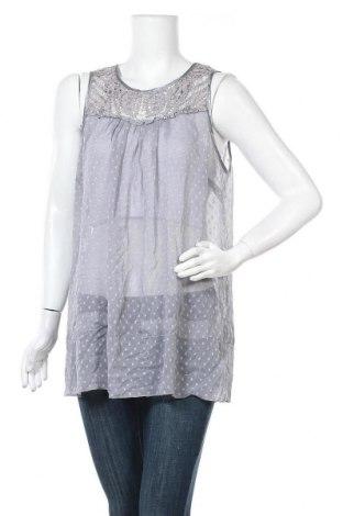 Γυναικείο αμάνικο μπλουζάκι Suzanne Grae, Μέγεθος XL, Χρώμα Γκρί, Πολυεστέρας, βισκόζη, Τιμή 4,16€