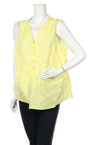 Γυναικείο αμάνικο μπλουζάκι Suzanne Grae, Μέγεθος XXL, Χρώμα Κίτρινο, Βαμβάκι, Τιμή 3,86€