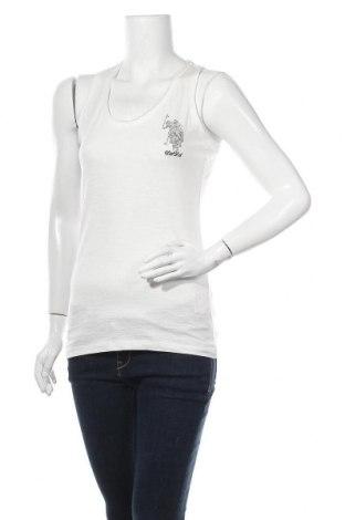 Γυναικείο αμάνικο μπλουζάκι U.S. Polo Assn., Μέγεθος M, Χρώμα Λευκό, Βαμβάκι, Τιμή 27,84€