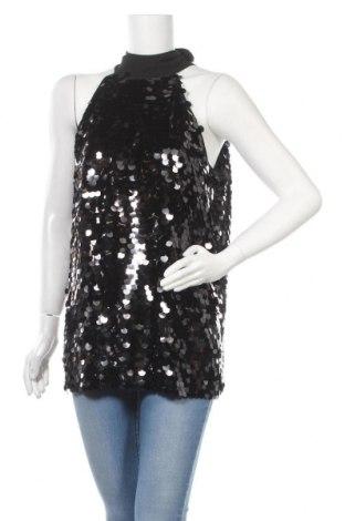 Γυναικείο αμάνικο μπλουζάκι United Colors Of Benetton, Μέγεθος L, Χρώμα Μαύρο, Πολυεστέρας, Τιμή 32,01€