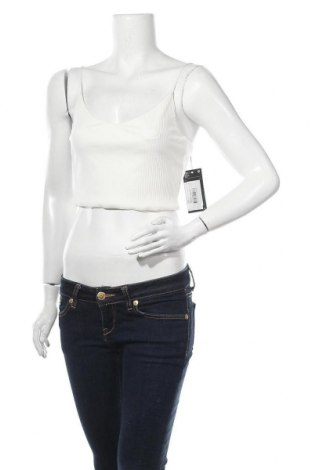 Γυναικείο αμάνικο μπλουζάκι Weekday, Μέγεθος S, Χρώμα Εκρού, 86% βισκόζη, 14% ελαστάνη, Τιμή 10,82€