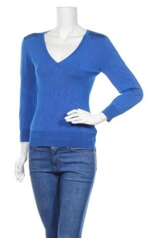 Дамски пуловер Reiss, Размер M, Цвят Син, 73% вискоза, 23% полиамид, 4% еластан, Цена 61,00лв.