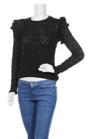 Дамски пуловер Zara, Размер M, Цвят Черен, Полиестер, Цена 34,00лв.