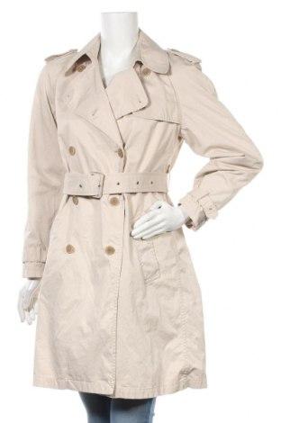 Дамски шлифер Stefanel, Размер S, Цвят Бежов, 64% памук, 25% полиестер, 11% други нишки, Цена 56,16лв.