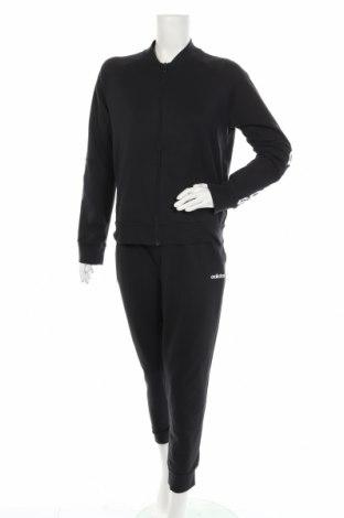 Дамски спортен комплект Adidas, Размер L, Цвят Черен, 72% памук, 28% полиестер, Цена 116,07лв.