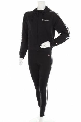 Дамски спортен комплект Champion, Размер M, Цвят Черен, 95% памук, 5% еластан, Цена 81,75лв.