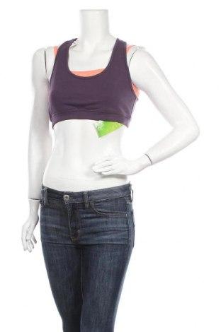 Γυναίκειο αθλητικό τοπ Active By Tchibo, Μέγεθος L, Χρώμα Βιολετί, 60% βαμβάκι, 33% πολυεστέρας, 7% ελαστάνη, Τιμή 12,86€