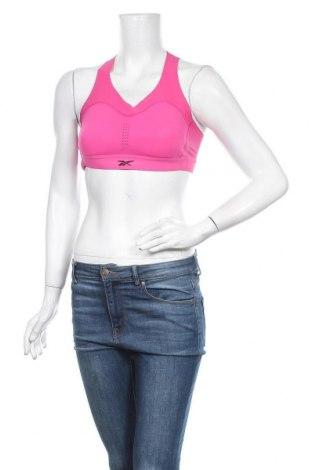 Дамски спортен топ Reebok, Размер S, Цвят Розов, 73% полиамид, 27% еластан, Цена 26,95лв.
